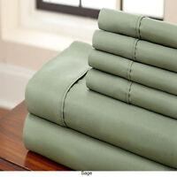 Egyptian Comfort 1800 Count 6 Piece Deep Pocket Bed Sheet Set w/ 4 Pillow Case