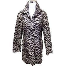 Mycra Pac Life Lightweight Leopard Rain Coat Size Medium Jacket Trench Nylon