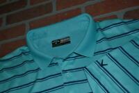 16245-a Mens Callaway Golf Polo Shirt Polyester Size 2XL Blue Striped