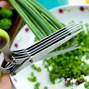 Multifunctional Muti Layers Stainless Steel Knives Multi-Layers KItchen Scissors