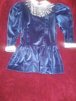 Vtg Key To Fashion Coming Thing Blue Vintage Baby Girls Dress Sz 6 Runs Small