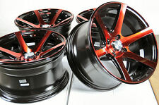 15x8 4x100 Red Effect Rims Fits Low Offset Spark Integra Miata Protege Wheels