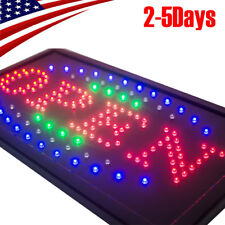 Pro high Visible Led Light Flash Motion Business Open Sign Chain Switch 25*48