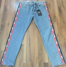 LEVI'S  501 Jeans-SLIM TAPER style SKA.NEW/TAGS-unisex-RED,WHITE,BLUE LEVIS LOGO