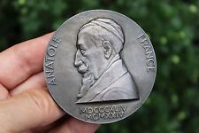 French antique silver medal, Anatole France, 67mm, 168g, 1844
