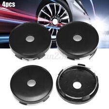 4Pcs 60mm/56mm Universal Black Car Auto Wheel Center Caps Plain Cover Rim ABS