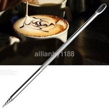 Brand New Stainless Steel Cappuccino Latte Espresso Coffee Decorating Pen Art