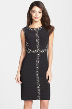 NWT WOMEN Adrianna Papell Jersey & Lace Sheath Dress size 2