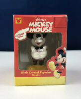 Vintage Disney's Mickey Mouse Birth Crystal Figurine October Opal New In Box