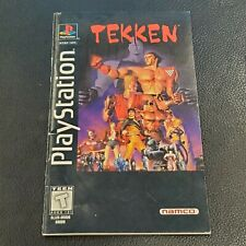 TEKKEN (manual only) * Playstation Long PS1 namco vtg 1995 instructions insert