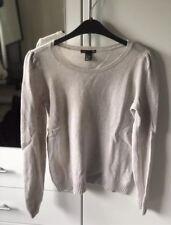 H&M Pullover Pulli Lammwolle Lana Oberteil Herbst Winter beige creme 38/40 M
