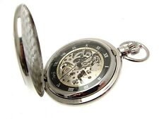 Pocket Watches For Men Silver Pocket Watch Full Hunter Men's Watches 1099998