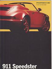 Porsche Speedster Folleto-alemán de texto-fechado 2/93 - como Nuevo