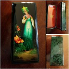"""New ListingRussian Fedoskino Lacquer Box """"Scarlet Flower�"""