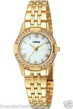 Lorus Women's Gold Diamond Designer Bracelet Watch Gift RRS94TX9