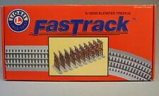 LIONEL FASTRACK ELEVATED TRESTLE Set  train track piers truss graduated 6-12038