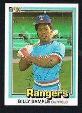 Billy Sample #268 signed autograph auto 1981 Donruss Baseball Trading Card