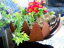 COUPE EN MÉTAL PATINE D.30 BOL Bac à plantes décoration de jardin Coupe à fleurs