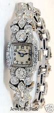 Hamilton  Ladies Vintage Deco Platinum &  3.35 CT Diamond Watch