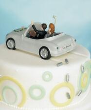 Honeymoon Bound Funny Couple Car Wedding Cake Topper