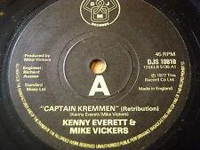 """KENNY EVERETT & MIKE VICKERS - CAPTAIN KREMMEN    7"""" VINYL"""