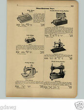 1951 PAPER AD Bradford Toy Dabutante Electric Sewing Machine Hassenfeld Mistress