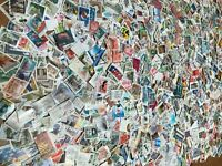 5000 STAMPS - USED,  With many from EUROPE - FREE SHIPPING