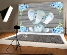 7x5ft Background Elephant Baby Birthday Party Backdrop Photography Props Studio