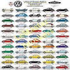 VW Beetle Schwimmwagen Coccinelle cabriolet   Affiche diaporama automobile