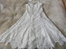STUNNING VERA WANG IVORY LACE DRESS SIZE 2 BRIDE/WEDDING/HOLIDAY/PARTY BNWT