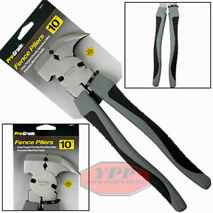 """10"""" Inch Fence Pliers Multi Purpose Hammer Tool Wire Cutter Fencing Pro Grade"""