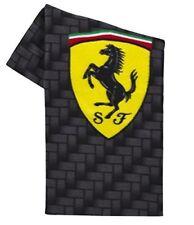 Ferrari Fleece Throw Blanket Carbon Fiber Design