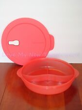 Tupperware Crystalwave Microwave Safe Divided Dish 3 Compartments Guava New