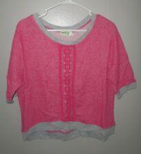 DREAM OUT LOUD juniors XL lace T shirt Selena Gomez pink & gray 2-tone