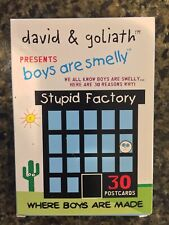 David & Goliath Boys Are Smelly Humorous Postcard Set Cooties Stupid Factory F1