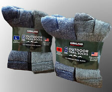 Kirkland Signature 72% Merino Wool Outdoor Walking Hiking Trail Trek Work Socks