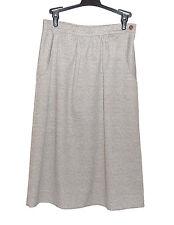 """Beeline Fashion Sz 12 Tan """"Tweed look"""" Polyester Skirt Fixed Waist Side Pockets"""