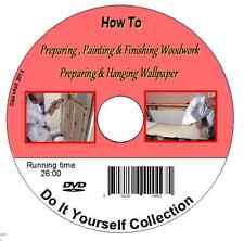 How to Prepare, Paint & Finish Woodwork Prepare & Hang Wallpaper DVD - DIY guide