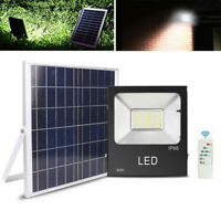 100W/ 150W 192LED Solar Powered Flood Light IP66 Outdoor Lighting w/ Remote Yard
