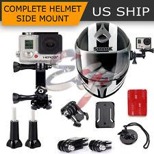 Adjustable Curved Helmet Self Arm Mount Holder For Gopro Hero 4 3+ 2 1 Camera