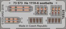 Eduard 1/72 Heinkel He 111H-6 Seat Belts STEEL # 73573