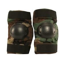 GI US Army Elbow Pads, 1000 Nylon, Made in USA, Woodland Camo, Small
