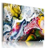 MODERN DESIGN WATERFALL WAVES Canvas Wall Art Picture Large AB613 MATAGA .