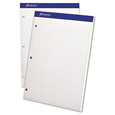 Ampad, Evidence Pad, Dual College/Med Rule, 8.5x11, White, 100 Sheets (ESS20323)