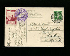Switzerland 1913 Pioneer Airmail Solothurn Semi Official Flight cover SBK XI