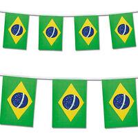 Brazil Flag Bunting Rio Football Olympics Banner 25 Flags 7m / 22ft