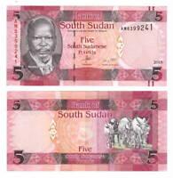 UNC SOUTH SUDAN 5 Pounds (2015) P-11
