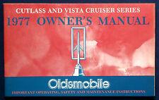 Owner's Manual Betriebsanleitung 1977  Oldsmobile Cutlass + Vista Cruiser  (USA)