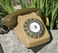 Télephone marron à cadran SOCOTEL S 63 PTT vintage 1981