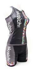 2XU skratch LABS Women Sleeveless Triathlon Kit XS Black Singlet Shorts Chamois